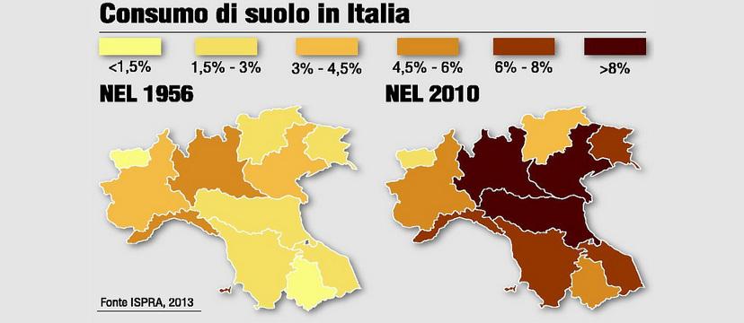 Consumo di suolo in Italia - 2013