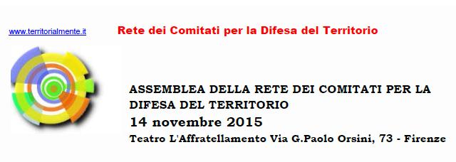 Assemblea della Rete, il 14 novembre a Firenze